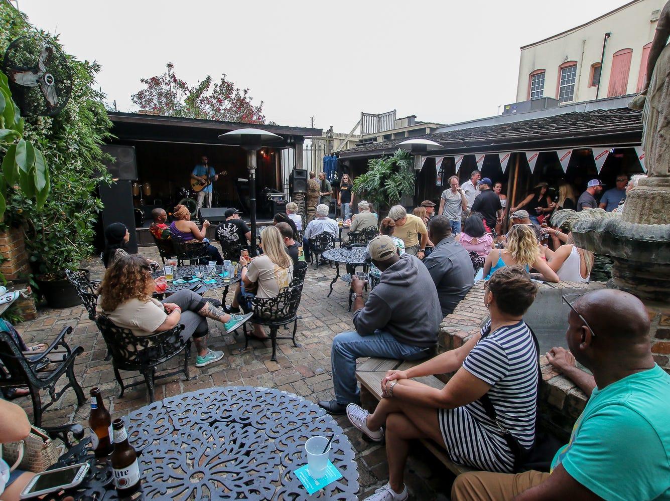 People enjoy Seville Quarter's annual Reggae Fest on Saturday, April, 13, 2019.