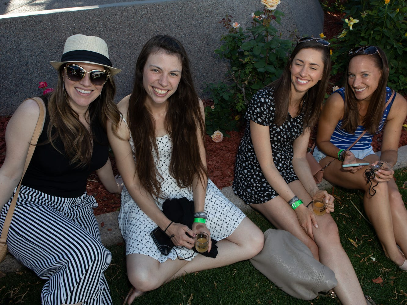 The lawn was a good place to hang out in at the Scottsdale Culinary Festival on April 13, 2019.