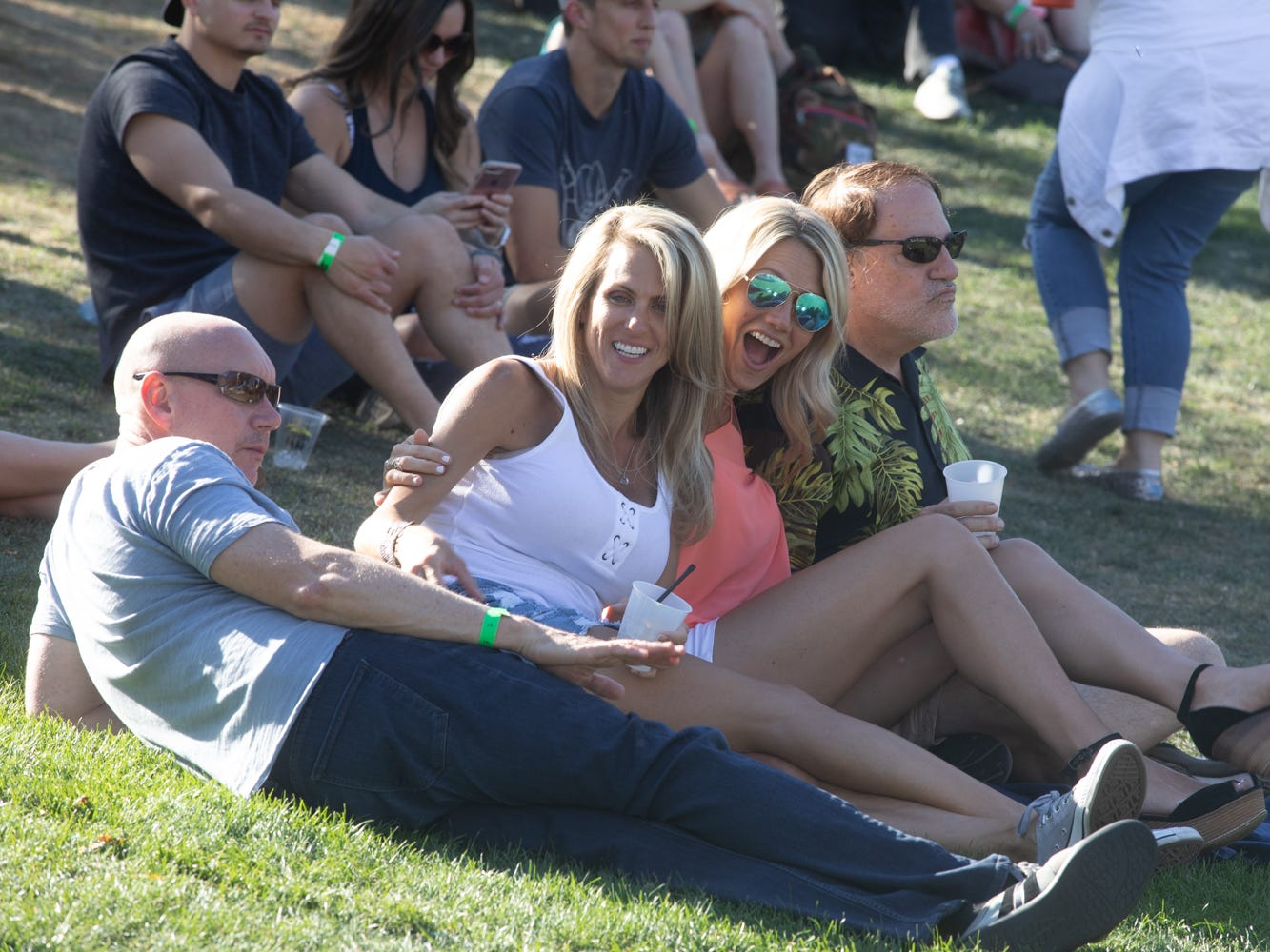 These friends enjoyed the tunes at the Scottsdale Culinary Festival on April 13, 2019.