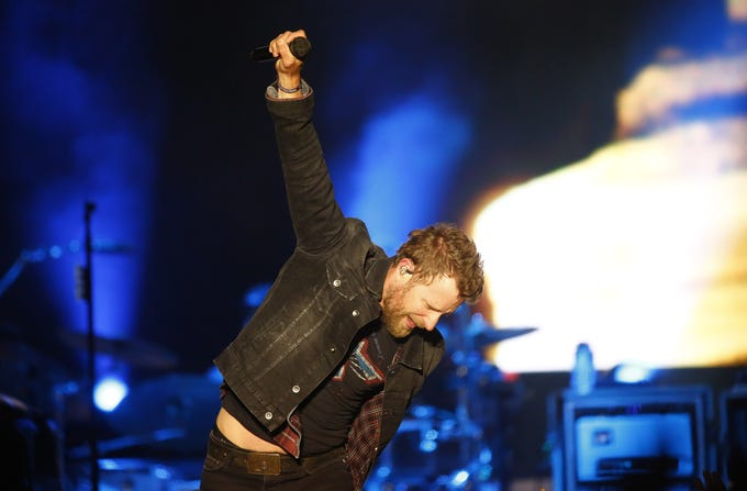 Dierks Bentley performs during Country Thunder in Florence, Ariz. on Saturday, April 13, 2019.