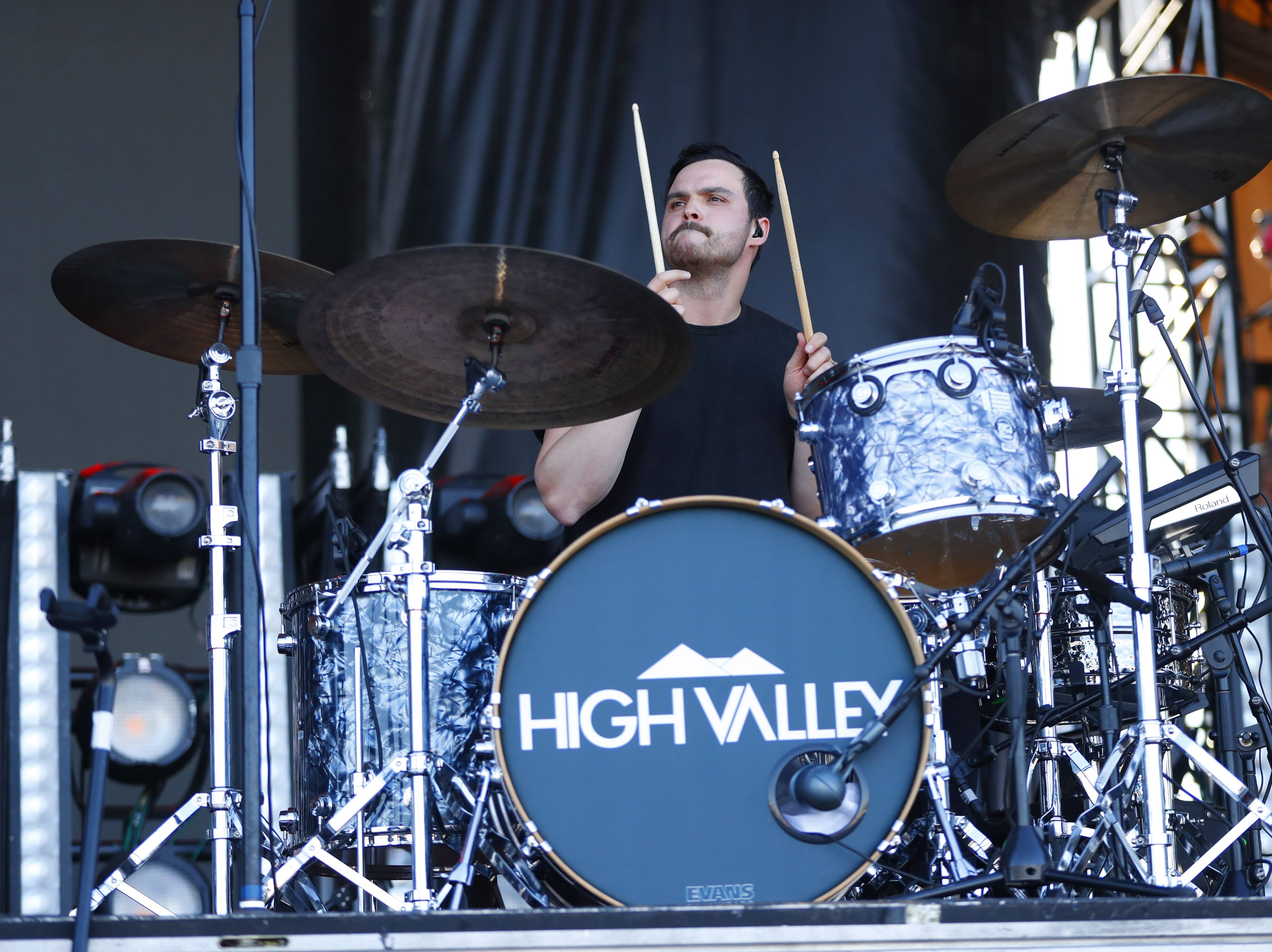 High Valley's drummer Andrew Hemmerling performs during Country Thunder in Florence, Ariz. on Saturday, April 13, 2019.