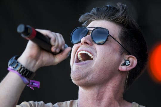 Austin Burke performs on Saturday, Apr. 13, 2019, during Day 3 of Country Thunder Arizona in Florence, Ariz.