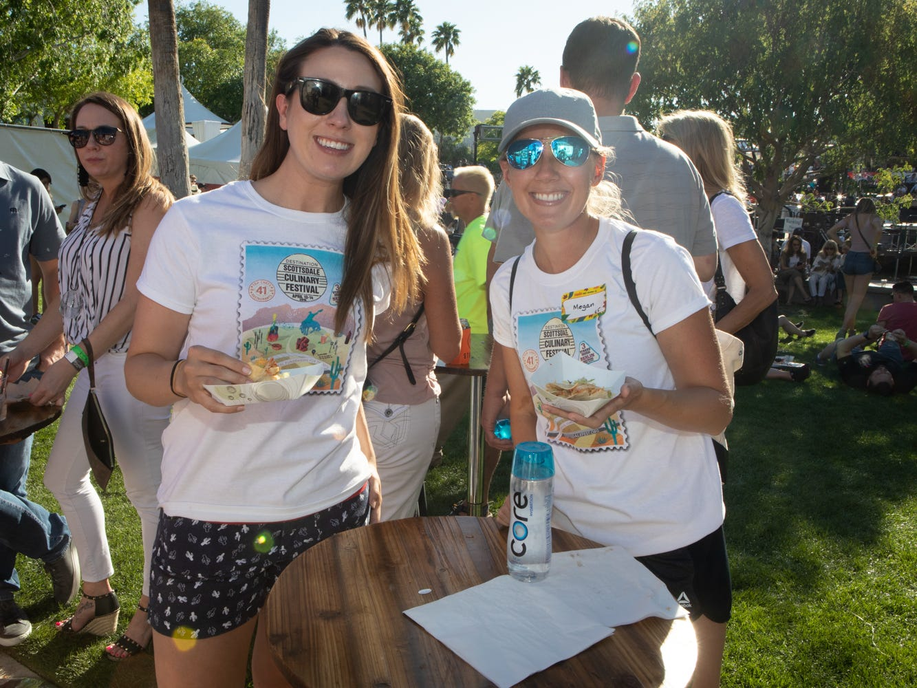 These ladies soaked up the sun at the Scottsdale Culinary Festival on April 13, 2019.