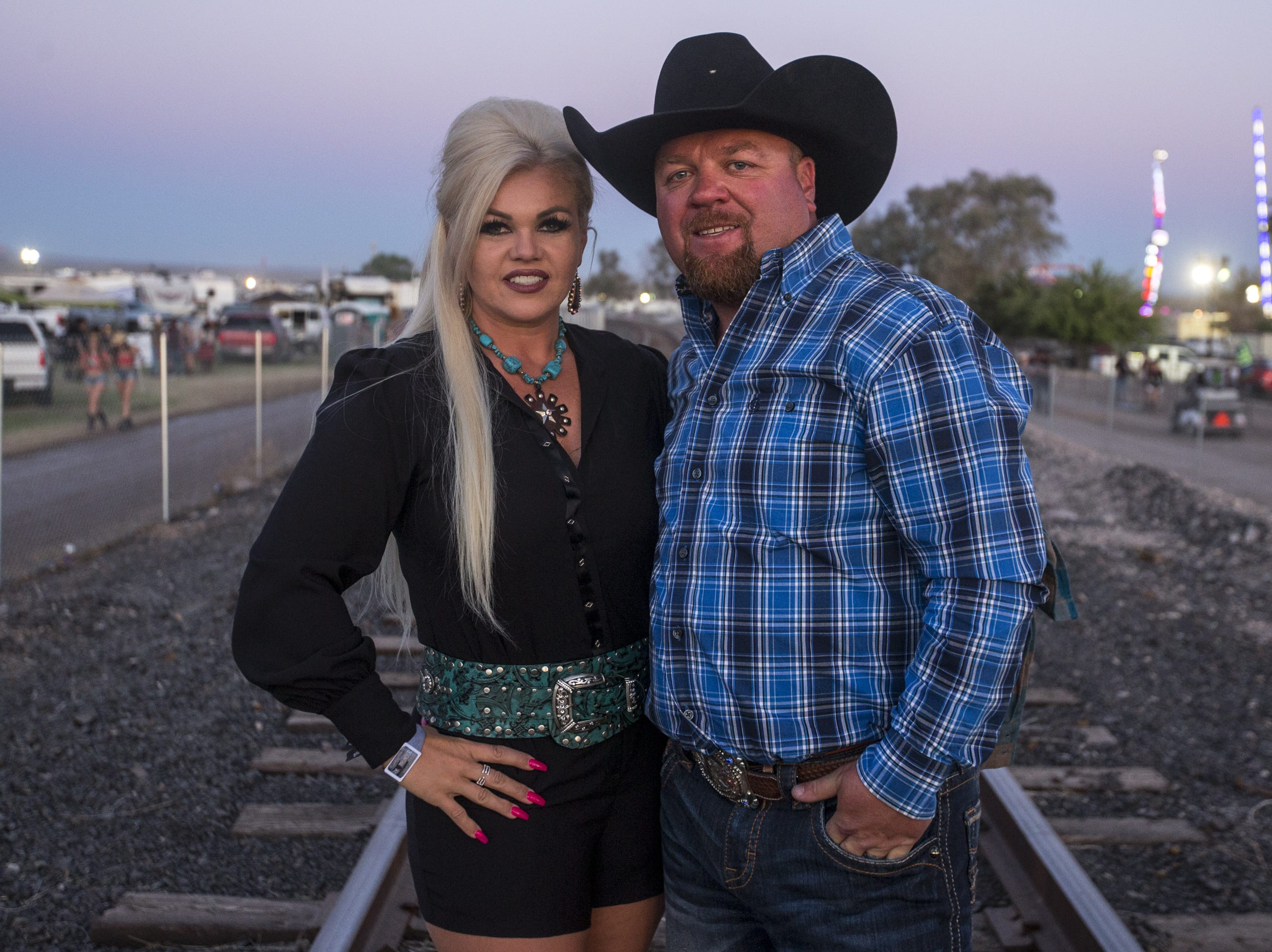 McKenna and Anthony McKinnon pose for a portrait on Saturday, April 13, 2019, during Day 3 of Country Thunder Arizona in Florence, Ariz.