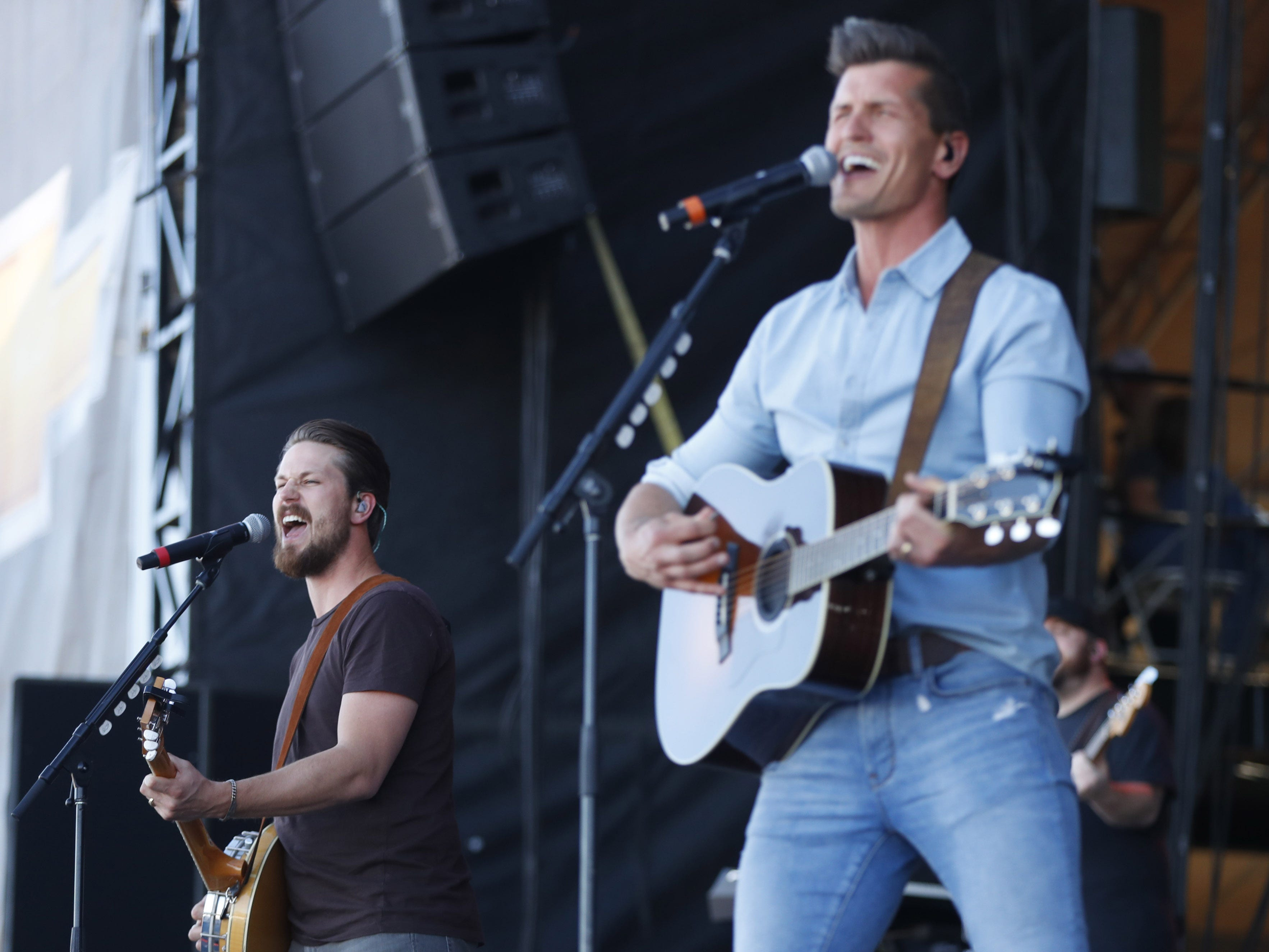 High Valley's Curtis Rempel (L) and Brad Rempel perform during Country Thunder in Florence, Ariz. on Saturday, April 13, 2019.