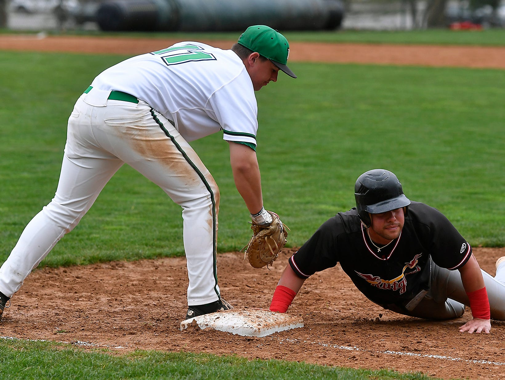 York College hosts Rudgers Camden in baseball, Sunday, April 14, 2019.John A. Pavoncello photo