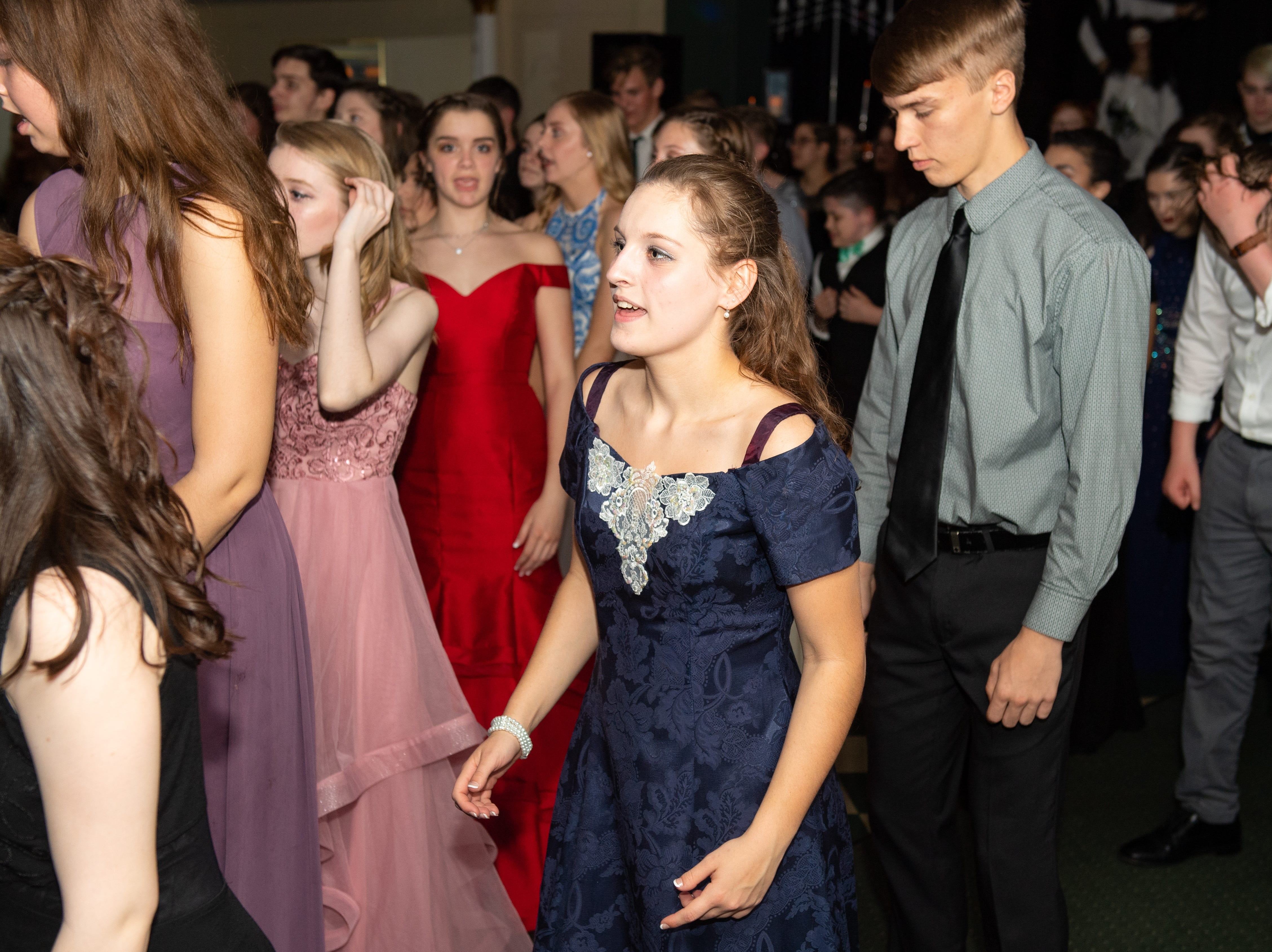 Students grab their dates and go to Wisehaven Event Center to dance the night away at the 2019 York Homeschool Association prom.