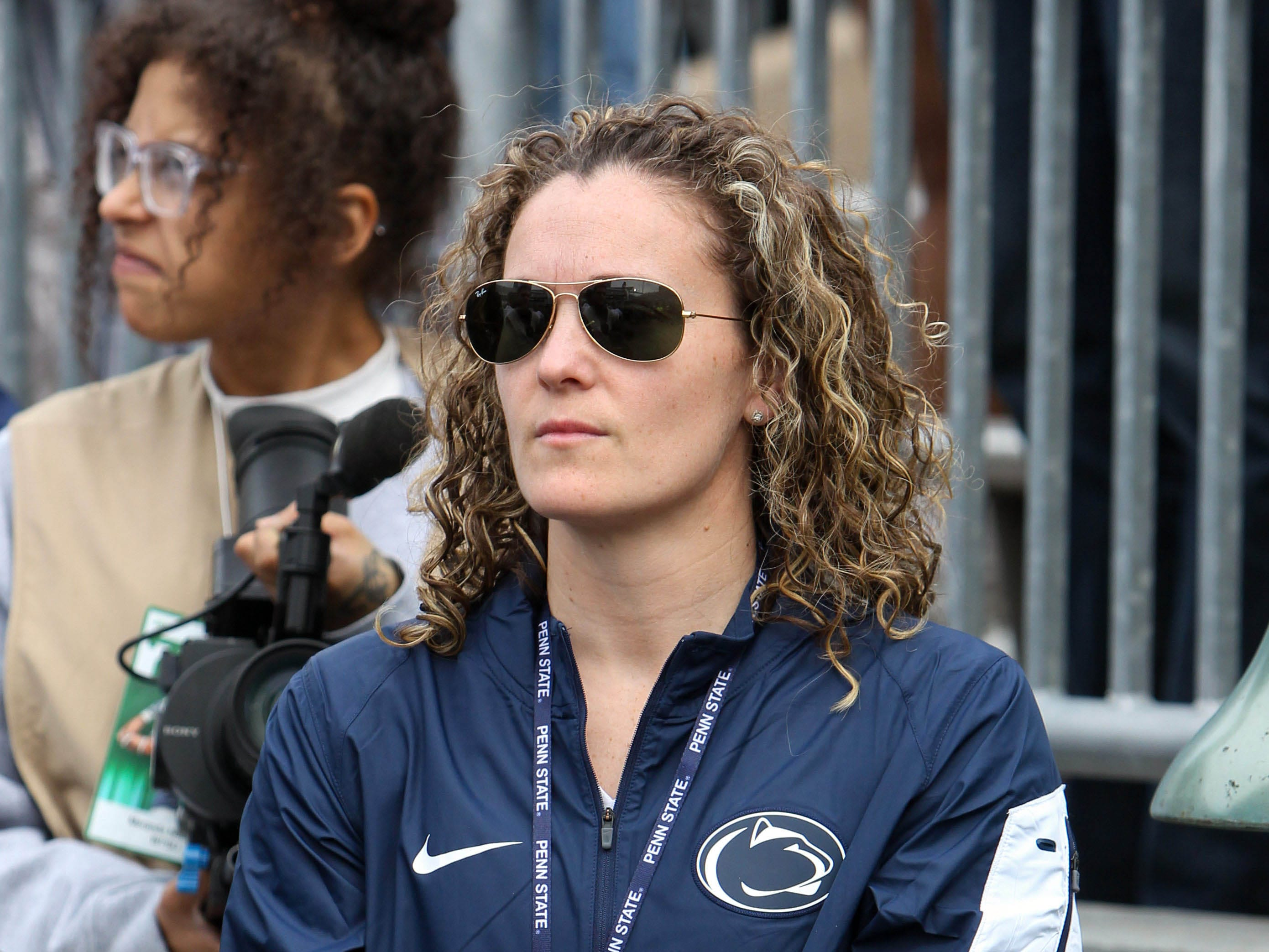 Apr 13, 2019; University Park, PA, USA; Penn State Lady Lions basketball head coach Carolyn Kieger looks on prior to the Blue White spring game at Beaver Stadium. Mandatory Credit: Matthew O'Haren-USA TODAY Sports