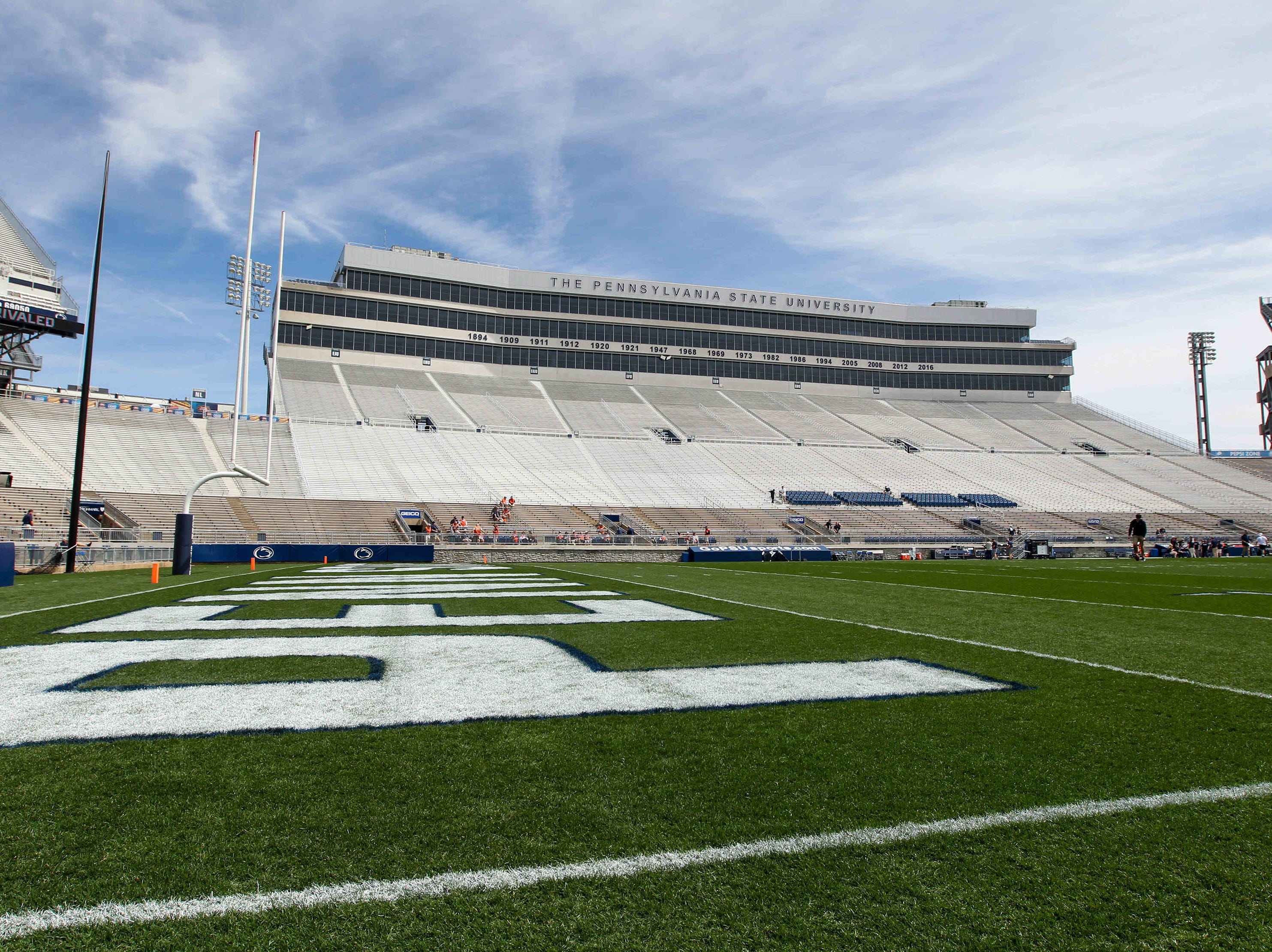 Apr 13, 2019; University Park, PA, USA; A general view of Beaver Stadium prior to the Blue White spring game at Beaver Stadium. Mandatory Credit: Matthew O'Haren-USA TODAY Sports