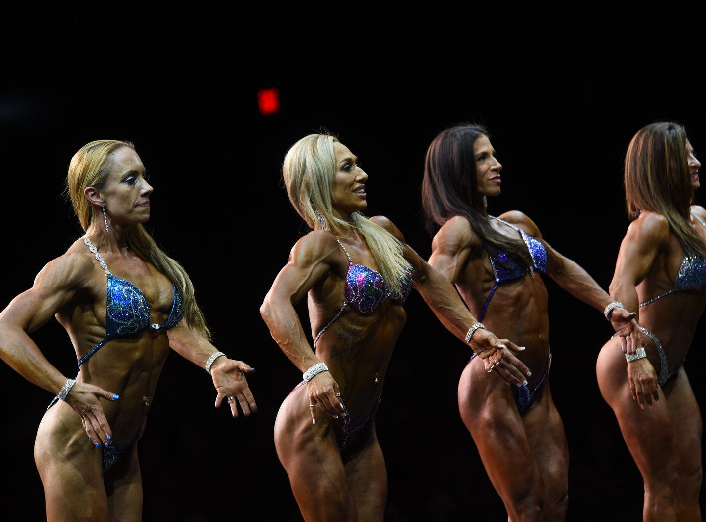 The NPC Mother Lode fitness and bodybuilding competition at the Grand Sierra Resort in Reno on April 13, 2019.