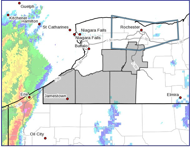 A tornado watch has been issued for five western New York counties.