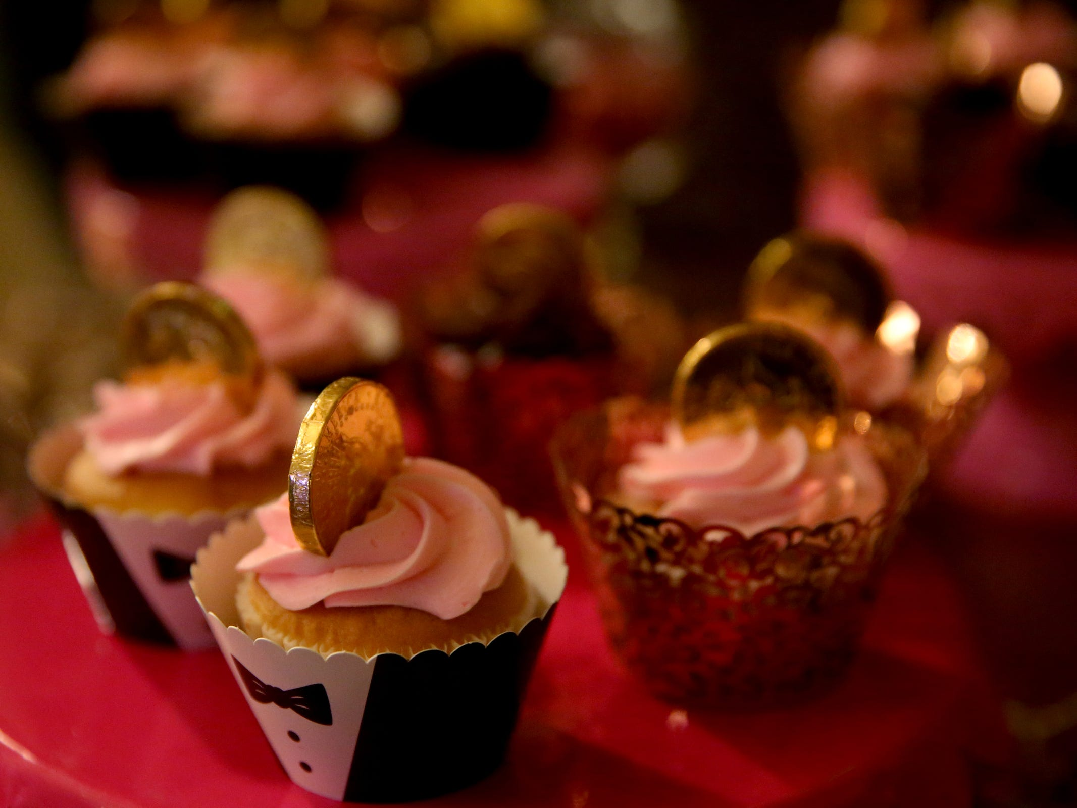 Cupcakes available during the South Salem High School prom at Zenith Vineyard in West Salem on April 13, 2019.
