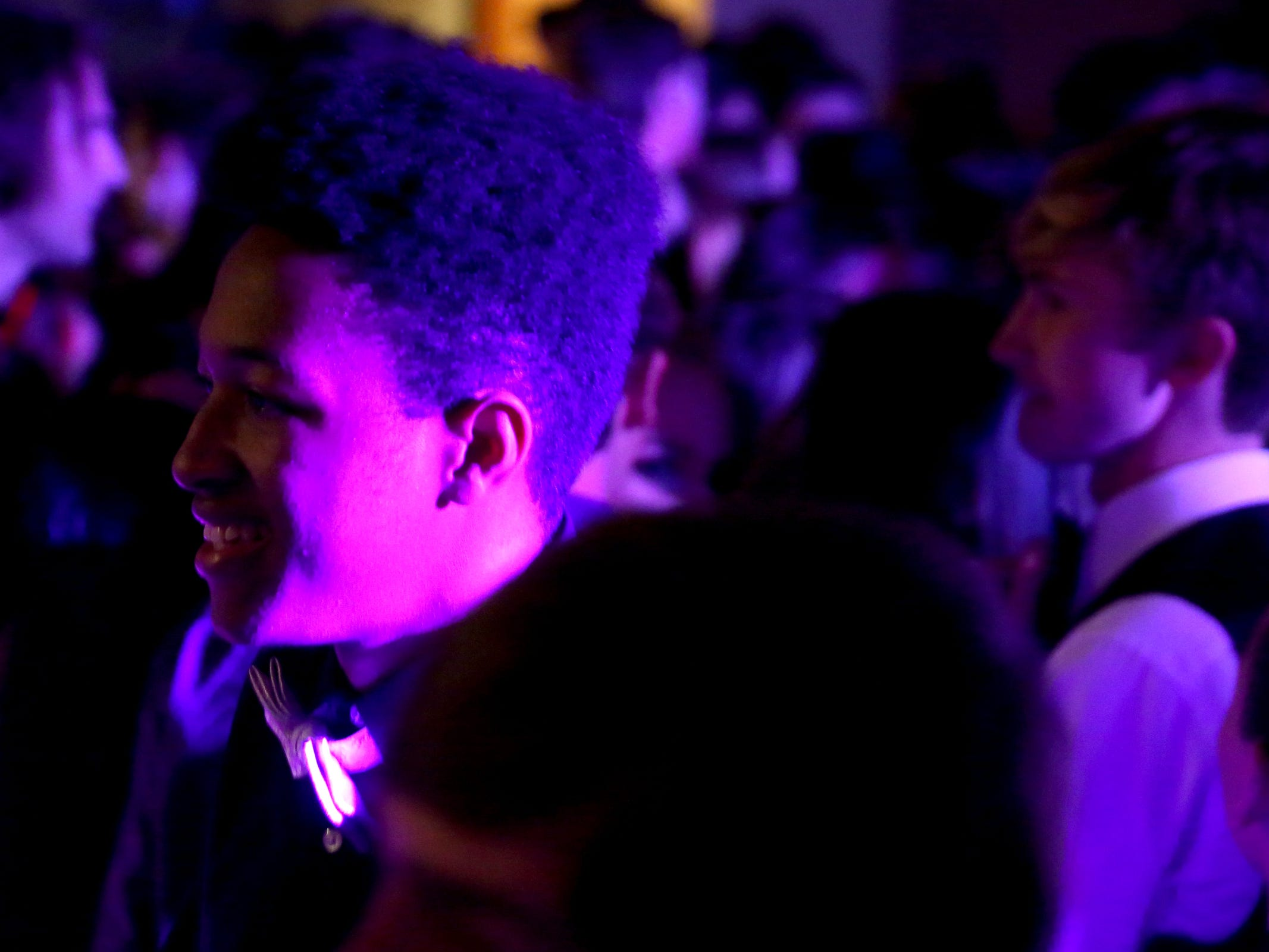 Students dance during the South Salem High School prom at Zenith Vineyard in West Salem on April 13, 2019.