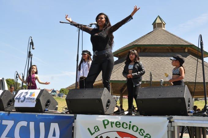 Maria Saldana, a Selena impersonator, performed at the second annual Selena Tribute Festival in Salinas.