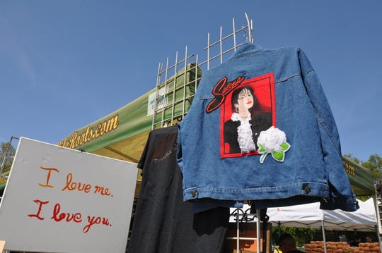 Goodliferoots, a distributor for artists, sold Selena-themed items at the second annual Selena Tribute Festival in Salinas.
