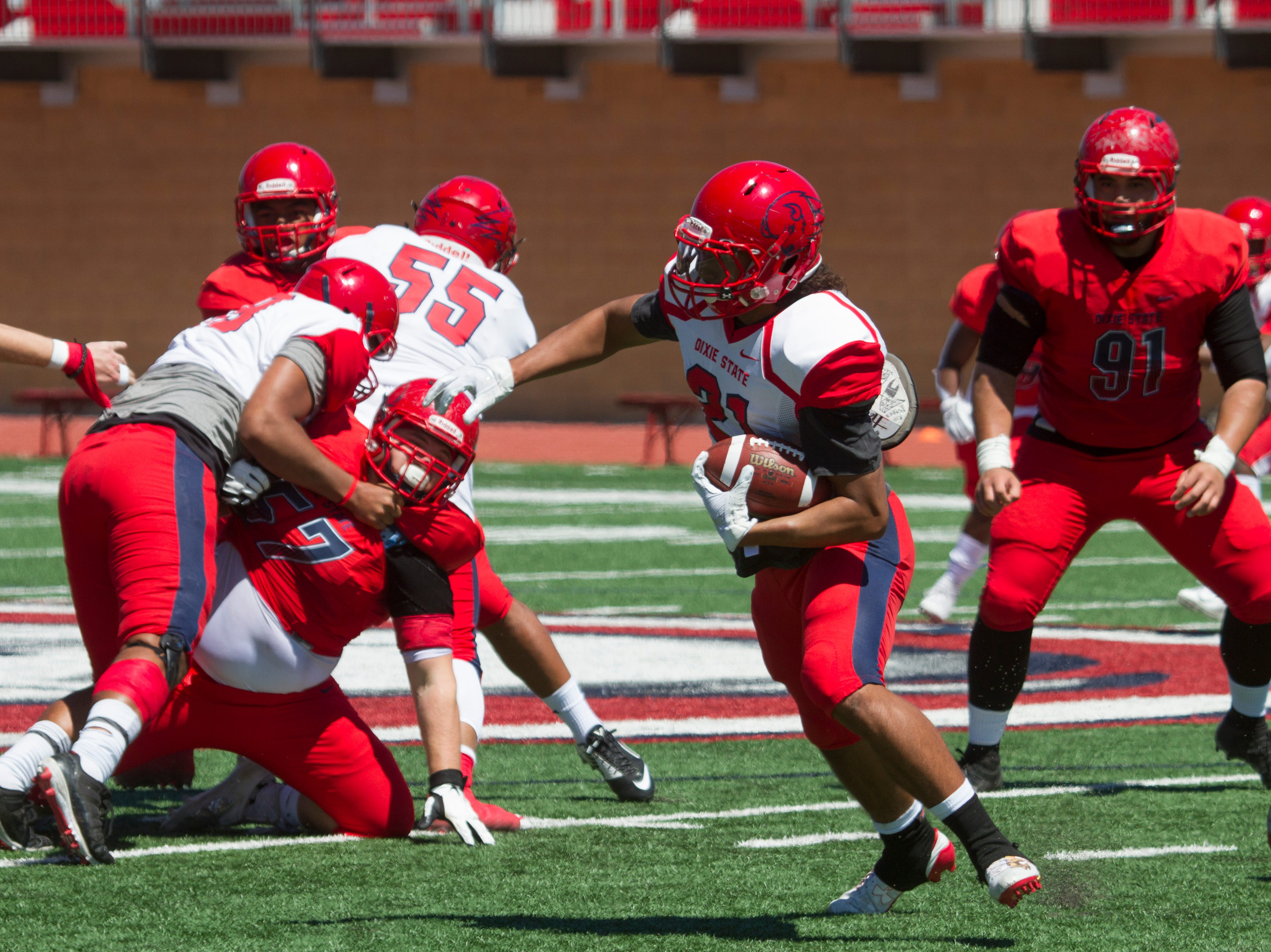 Dixie State University football spring game Saturday, April 13, 2019.