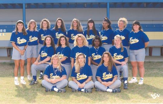 Softball team photo of the 1994 TCC Eagles. The squad won the NJCAA softball championship.