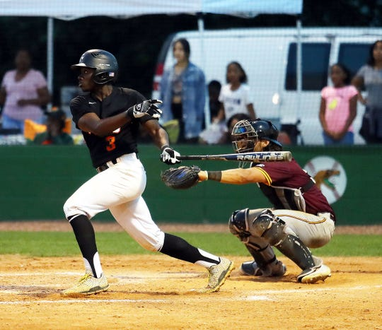 FAMU shortstop Robert Robinson hit a walk-off single in the 10th inning to give the Rattlers a 6-5 win over Bethune-Cookman on Friday, April 12, 2019.