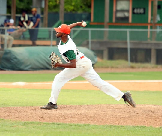 FAMU pitcher Jeremiah McCullum earned a win in 1.2 innings of relief in Game 2 of a doubleheader versus B-CU on Saturday, April 13, 2019. The Rattlers and Aggies play this week for the MEAC Southern Division title.