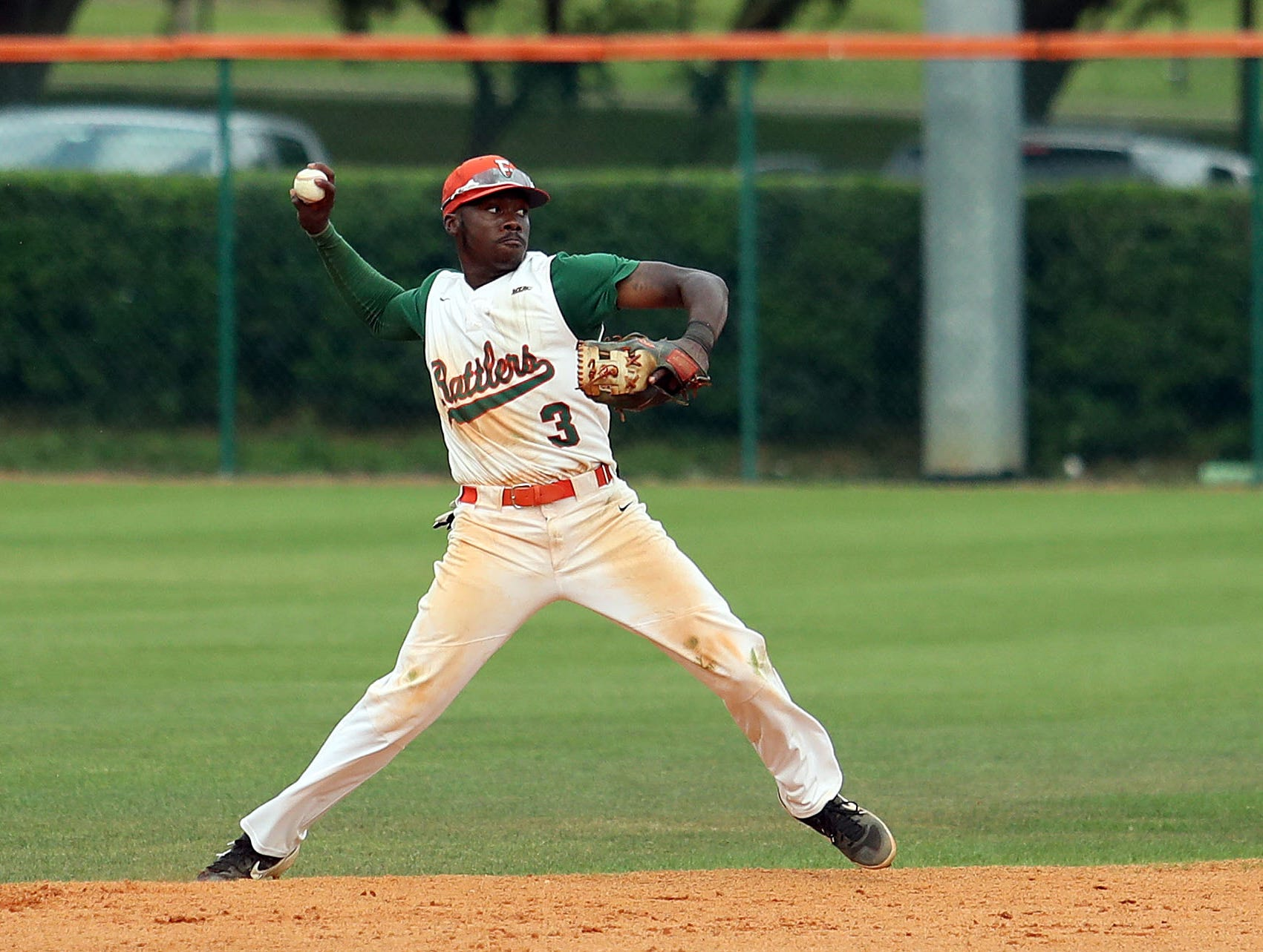 FAMU shortstop Robert Robinson fields a ball Game 2 of a doubleheader versus B-CU on Saturday, April 13, 2019.