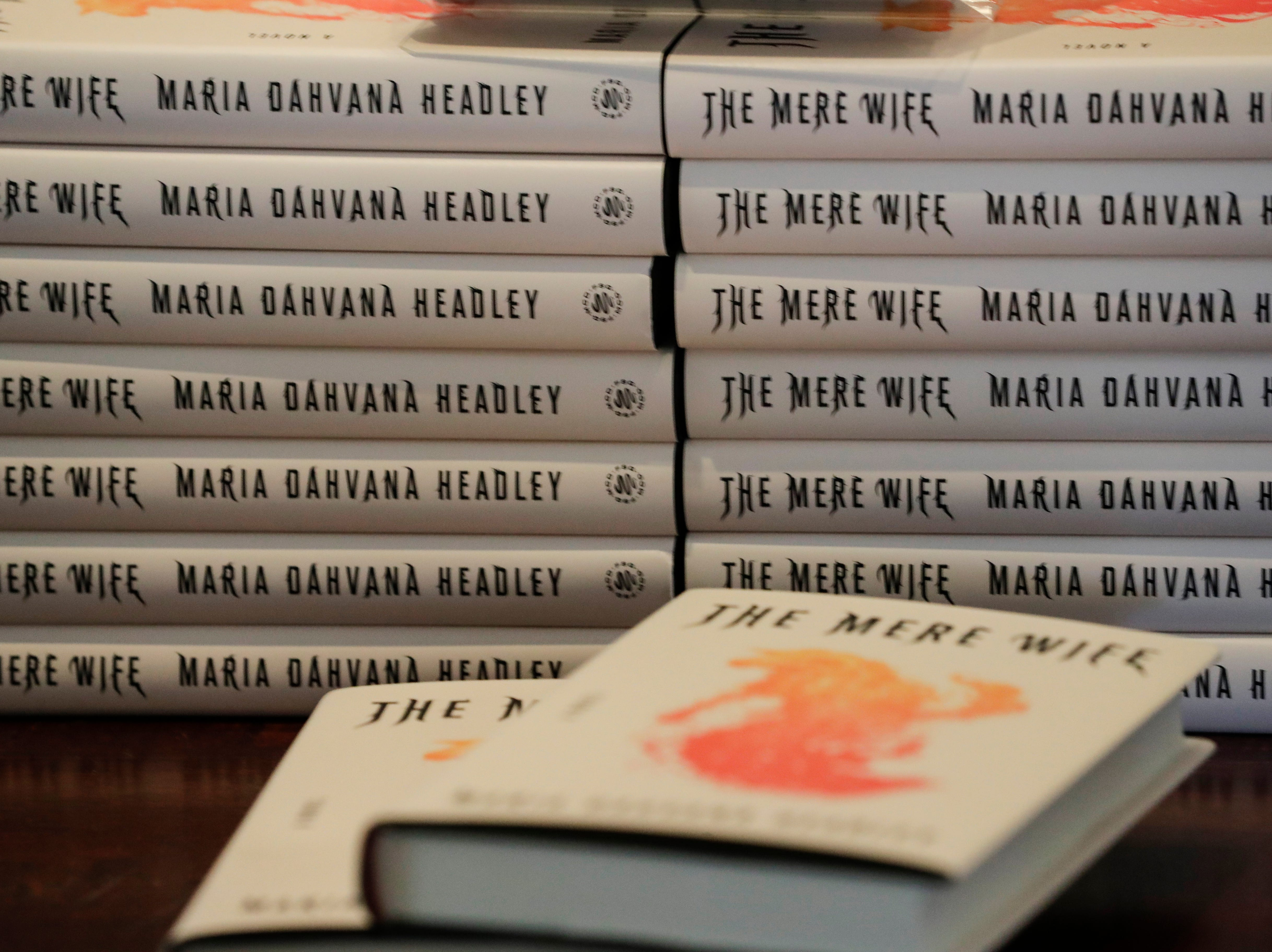 "Copies of Maria Dahvana Headley's book ""The Mere Wife"" are available for purchase as she reads an excerpt from the book at The Edison during the Word of South festival Sunday, April 14, 2019."