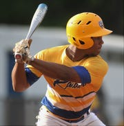 Rickards sophomore Will Brown bats as Rickards beat Gadsden County 18-0 in three innings on Friday, April 12, 2019.