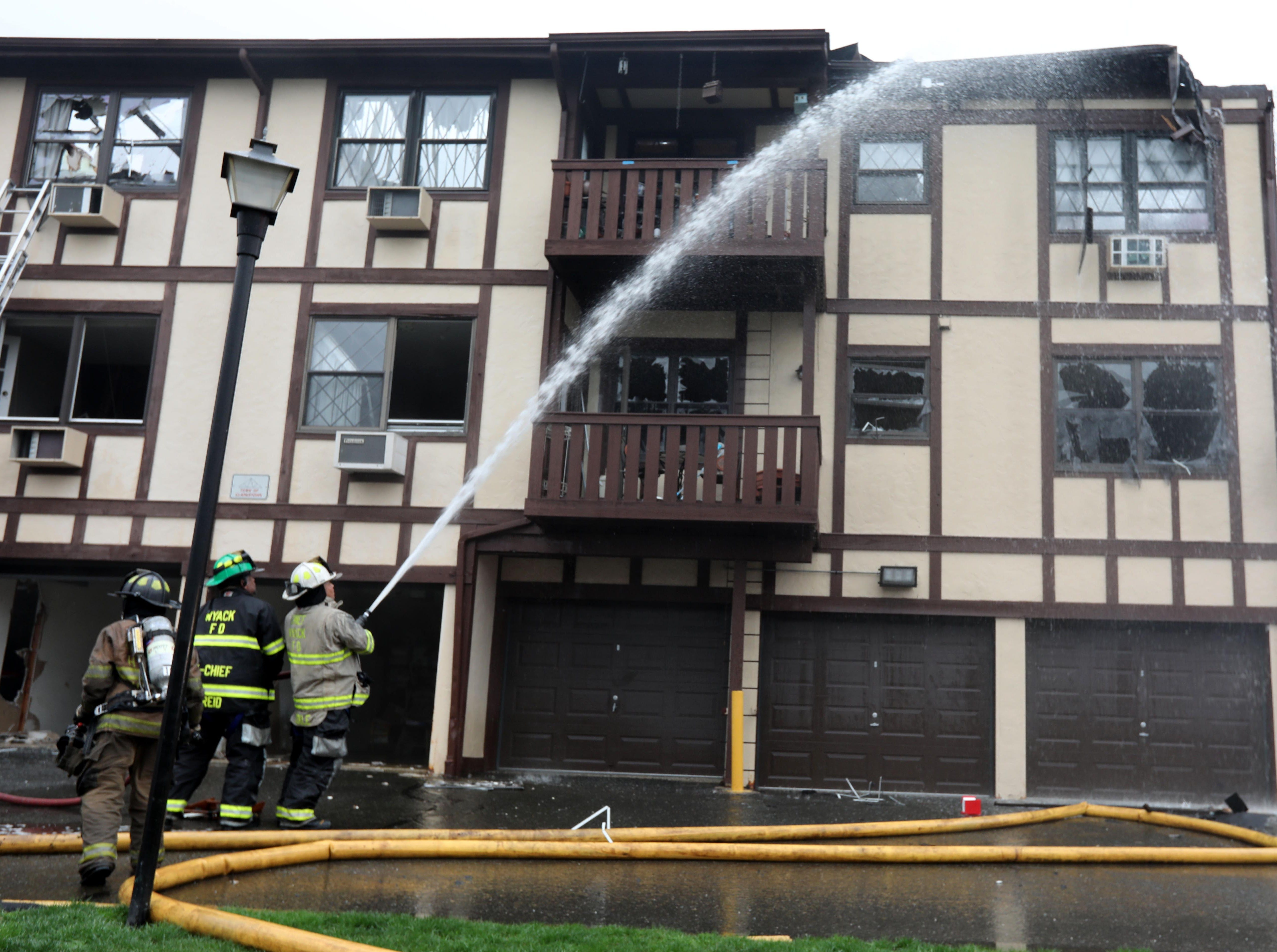 A fire Sunday afternoon destroyed multiple units of a condominium at Sierra Vista Lane in Valley Cottage April 14, 2019. Fire departments from Valley Cottage and surrounding communities responded to the fire.