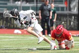 Chaminade defeats Yorktown in boys lacrosse action at Yorktown High School April 13, 2019.