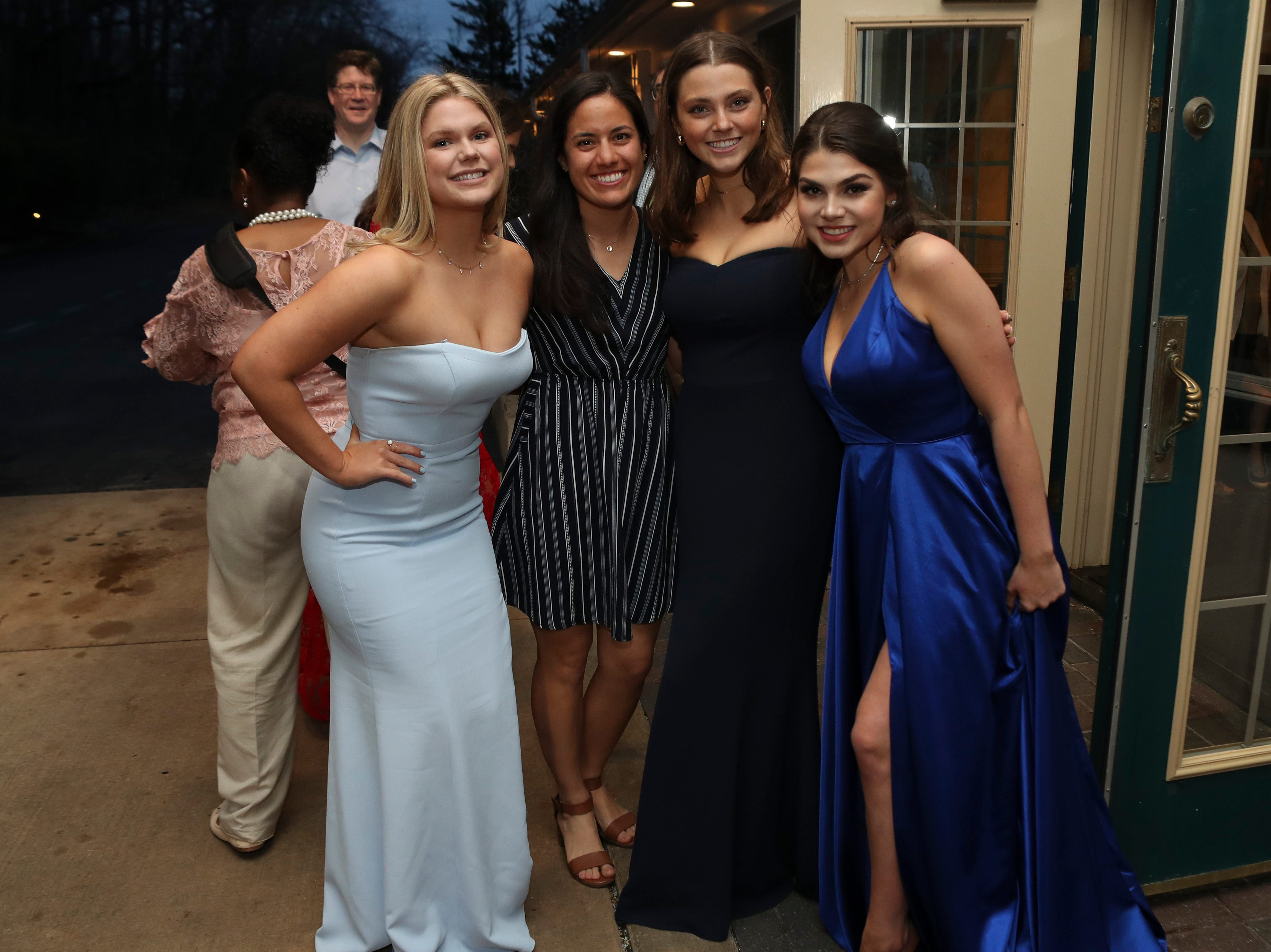 Students and guests arrive at Tatnall School's prom at the Mendenhall Inn Saturday, April 13, 2019.