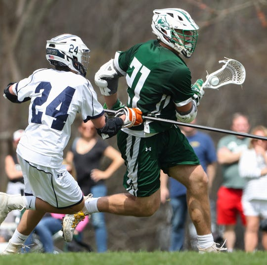 Archmere senior Mitch Moyer (right) is the state's boys lacrosse Player of the Year and leads the All-State team.
