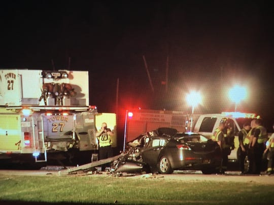 A firetruck was involved in the serious crash on U.S. 301 near Middletown