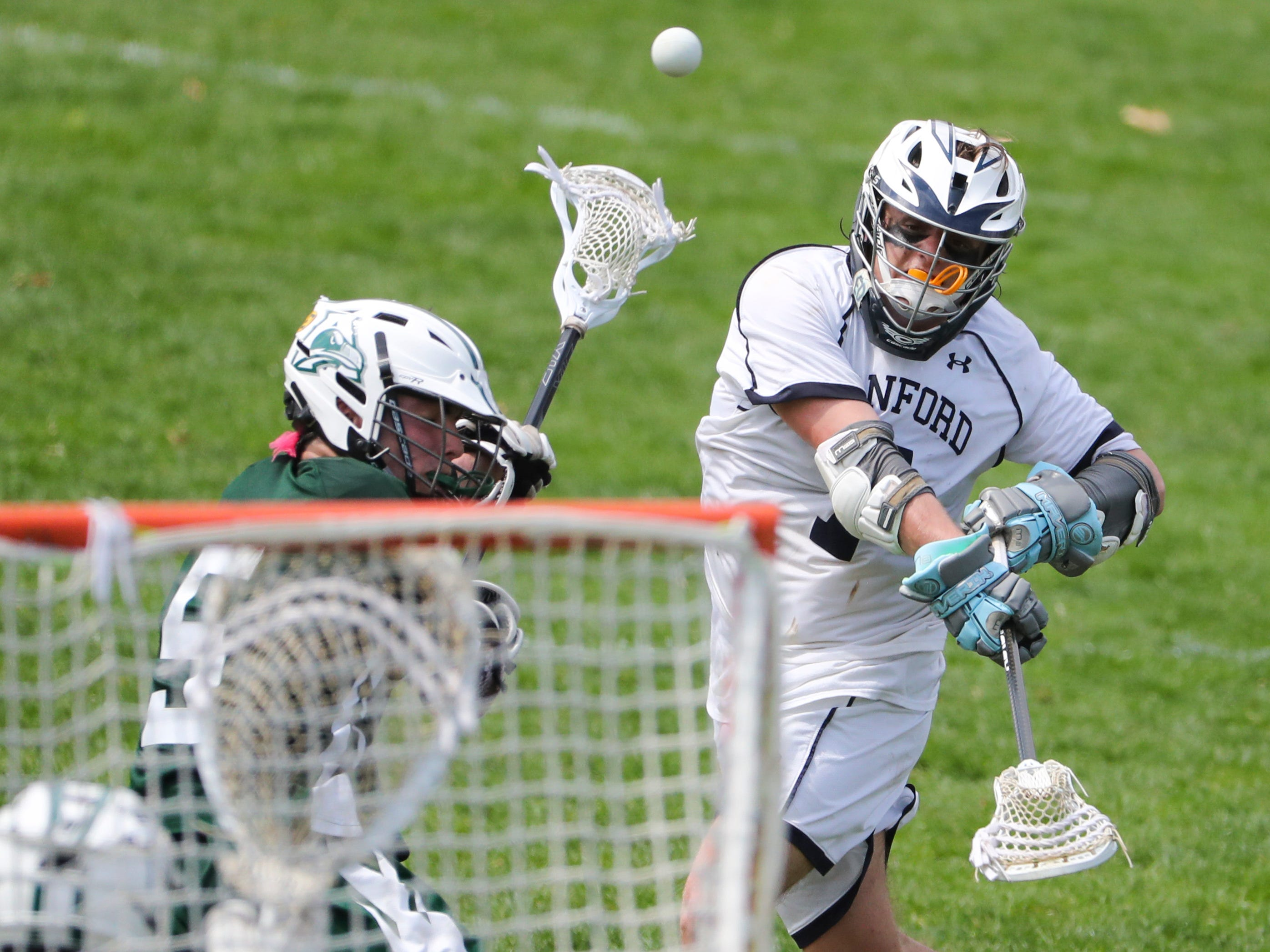 Sanford's Tommy Bloom shoots in the second half of Sanford's 12-10 win Saturday.