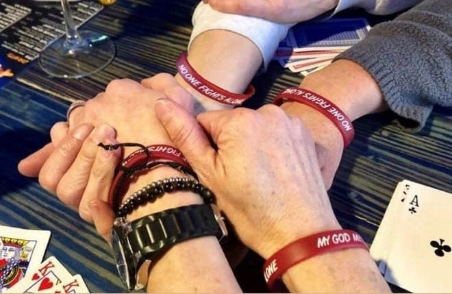 """""""No One Fights Alone,"""" a benefit for Wichitan Shawn Butler, will be held from 6-9 p.m. April 18 at The Warehouse.Butler fights an uncommon form of cancer, adenoid cystic carcinoma, which has metastasized in her blood, with the help of close friends."""