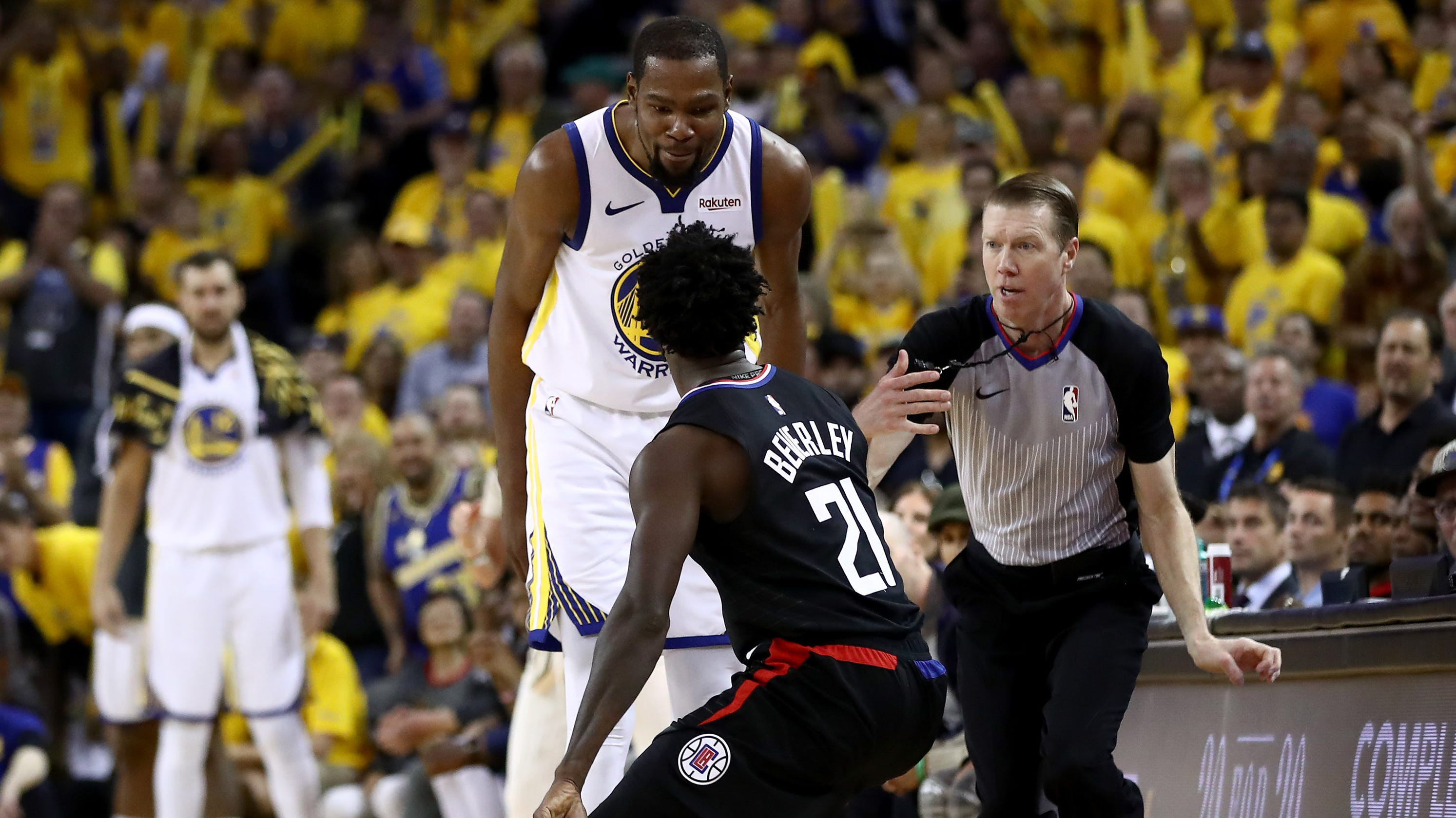 f9a92978b571 NBA playoffs  Kevin Durant ejected in Warriors win over Clippers