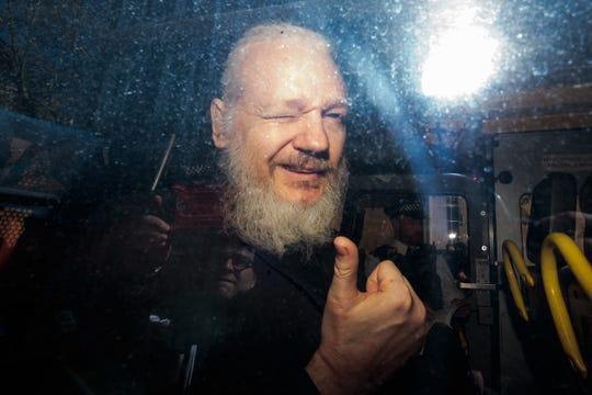 Julian Assange on April 11, 2019, in London.