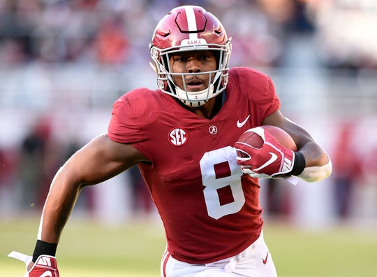 Josh Jacobs played a modest role at Alabama, but could be a backfield star in the NFL.