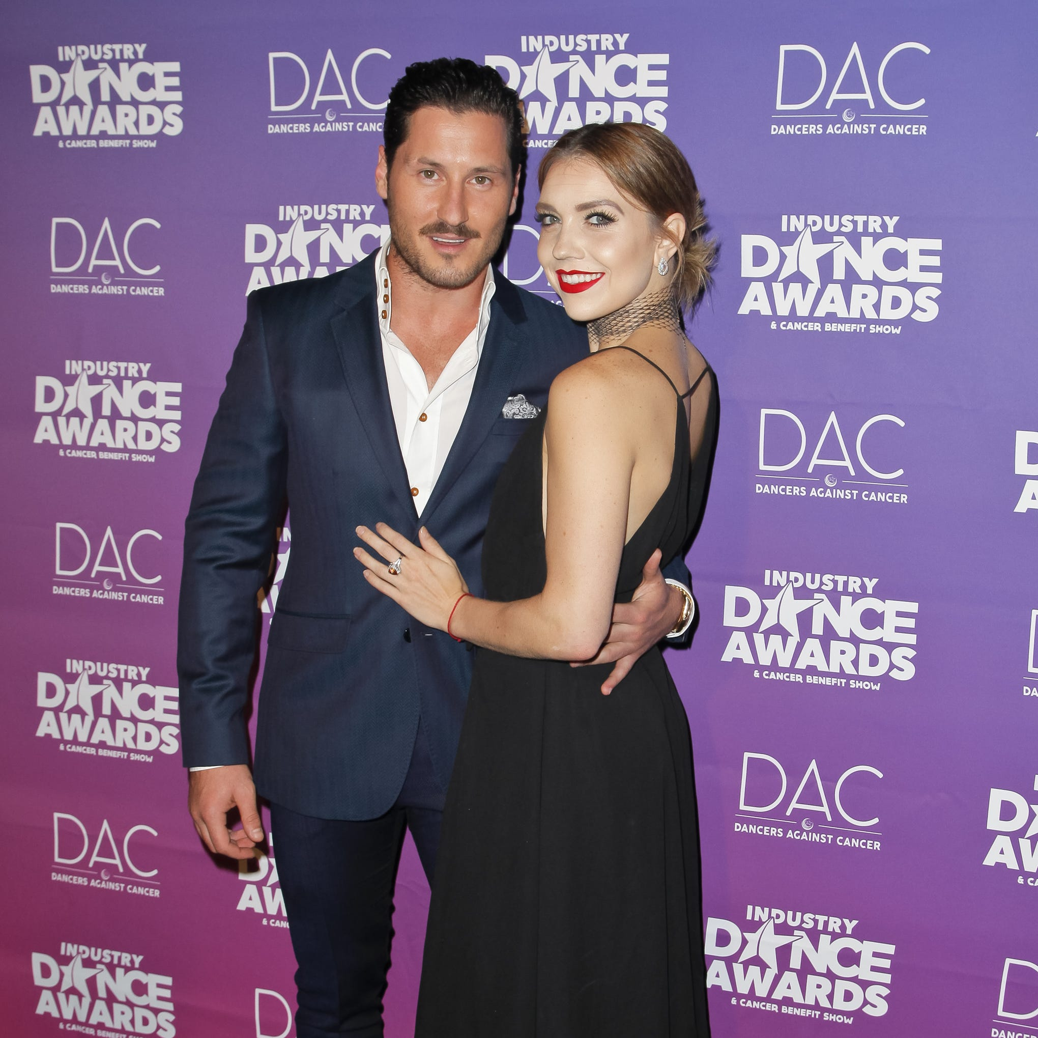 Val Chmerkovskiy and Jenna Johnson attend the 2017 Industry Dance Awards and Cancer Benefit Show on August 16, 2017 in Hollywood, California.