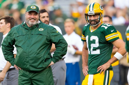 Aaron Rodgers denied that there was a rift between him and former Packers coach Mike McCarthy.