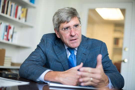 Stephen Moore of The tradition  Foundation on August 31, 2016, in Washington, D.C.