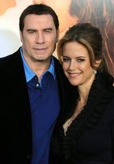 John Travolta and his wife Kelly Preston.