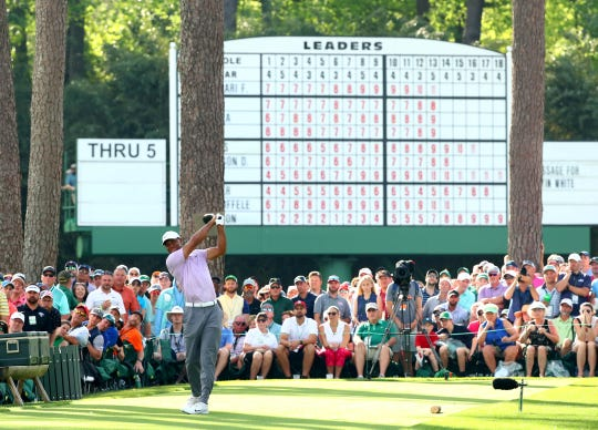 Tiger Woods has a chance to win his fifth green jacket at Sunday Masters.