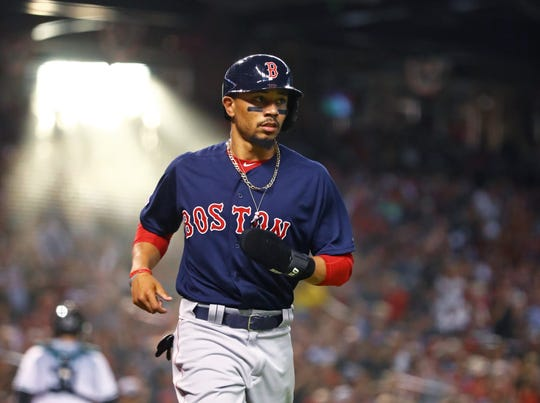 Mookie Betts was the 2018 AL MVP and has won three consecutive Gold Glove awards.