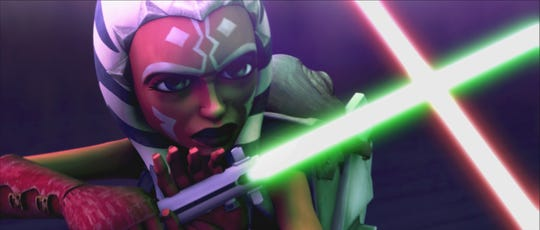 "Ahsoka Tano (voiced by Ashley Eckstein) plays a pivotal role in the upcoming final season of ""Star Wars: The Clone Wars."""