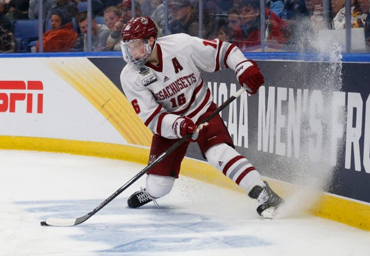 Defenseman Cale Makar won the Hobey Baker Award as college's top player.