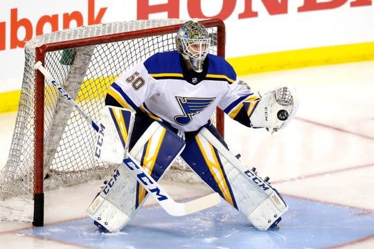 St. Louis Blues goaltender Jordan Binnington has outplayed Winnipeg's Connor Hellebuyck.