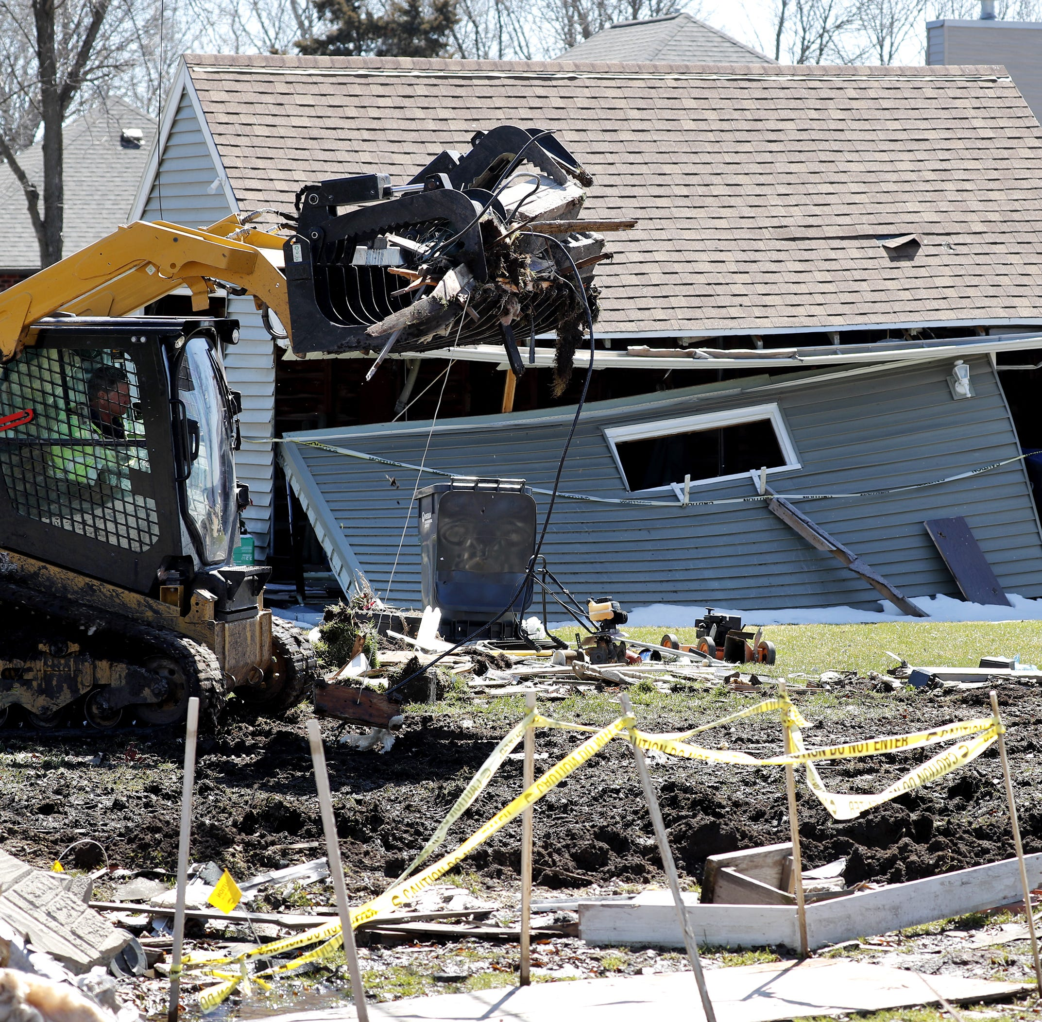 Cleanup of house explosion in Harrison begins under threat of fines