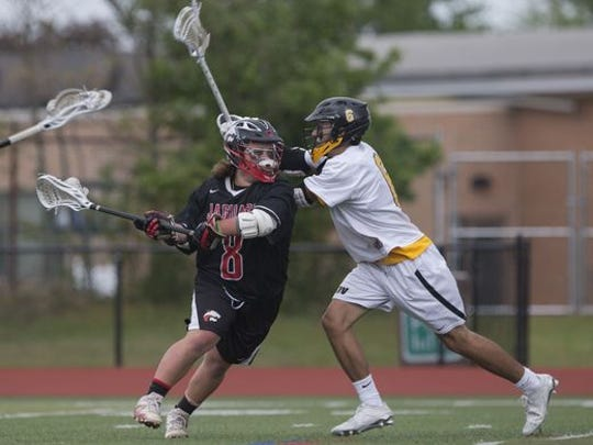 St. John Vianney boys lacrosse versus Jackson Memorial in the Shore Conference Tournament on May 6, 2017