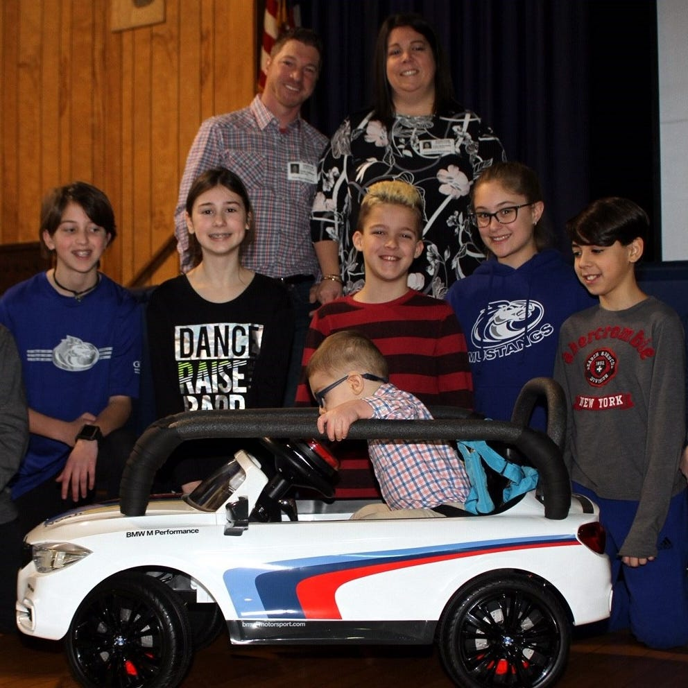 Hazlet sixth-graders design motorized mini-car for 2-year-old with special needs