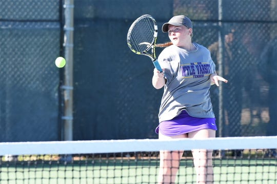Wylie's Elle Schroeder is entering her fourth region tournament. Along with partner Leighton Alford, Schroeder will compete in girls doubles at the Region I-5A tournament in Lubbock.