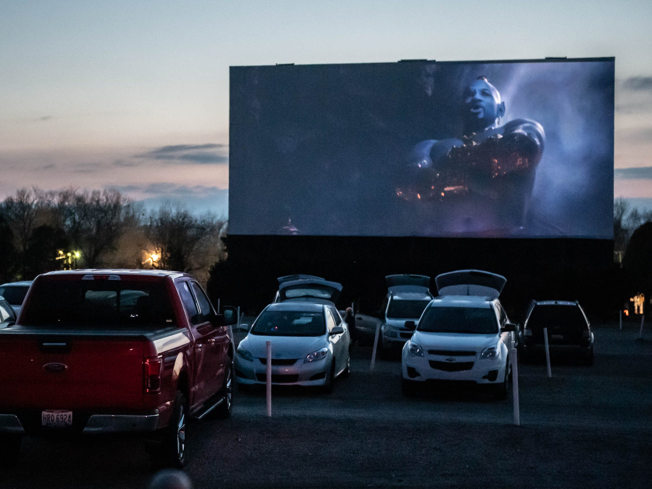 "A preview for ""Aladdin"" at The Capri Drive-In in  Coldwater on Friday, April 5, 2019."
